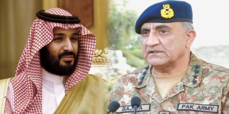 COAS Bajwa, Saudi Crown Prince discuss matters of mutual interest, regional security