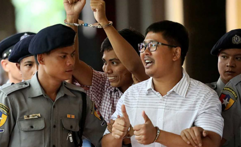 Two journalists jailed in Myanmar for highlighting Rohingya massacre