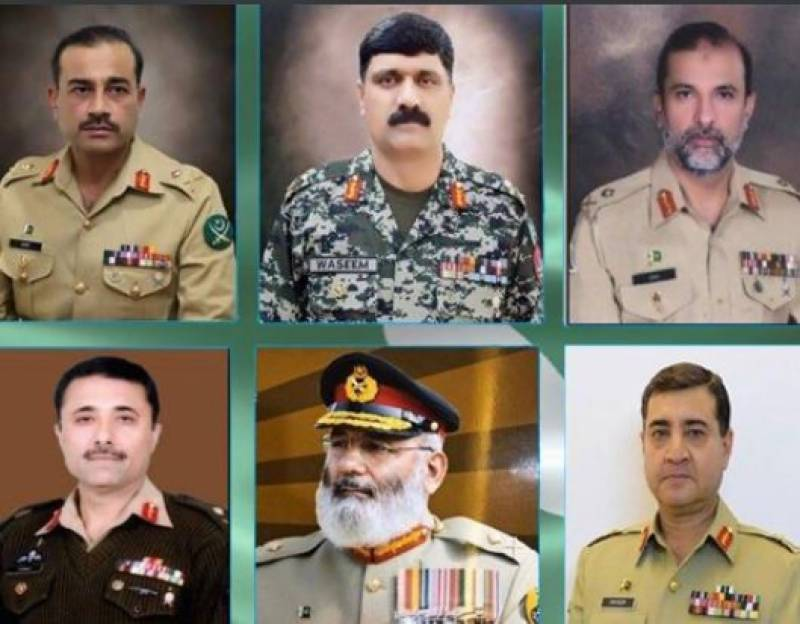 Six major generals promoted to lieutenant general