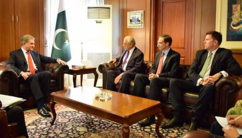 US envoy Zalmay Khalilzad, FM Qureshi agree on future cooperation