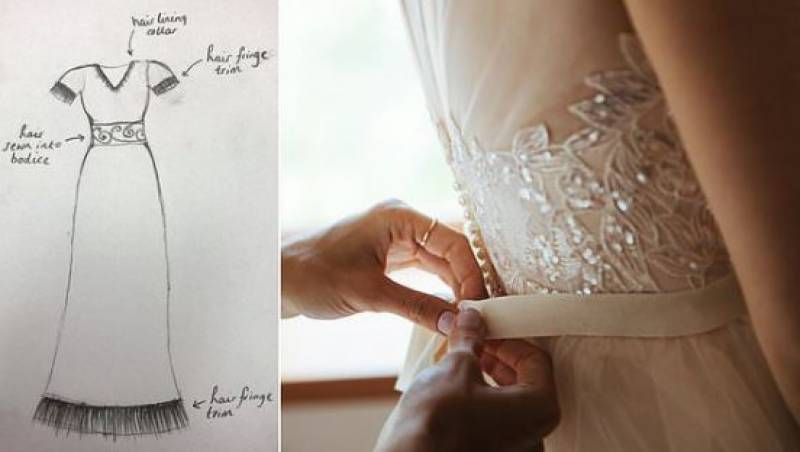 Woman offer $19,000 to design a dress made out of her late mother's hair