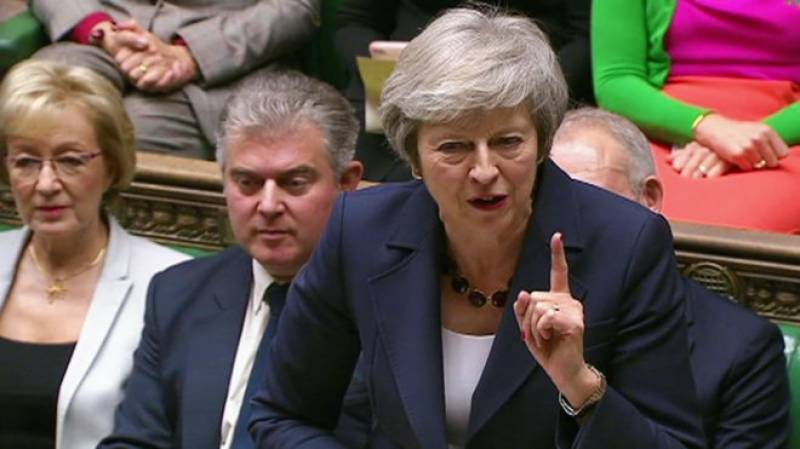British PM says toppling her would risk delaying Brexit