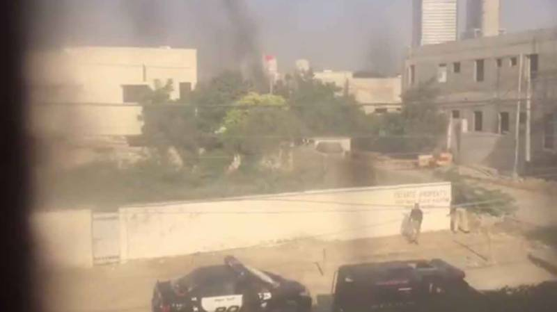 Two policemen martyred, three terrorists killed in attack on Chinese consulate in Karachi