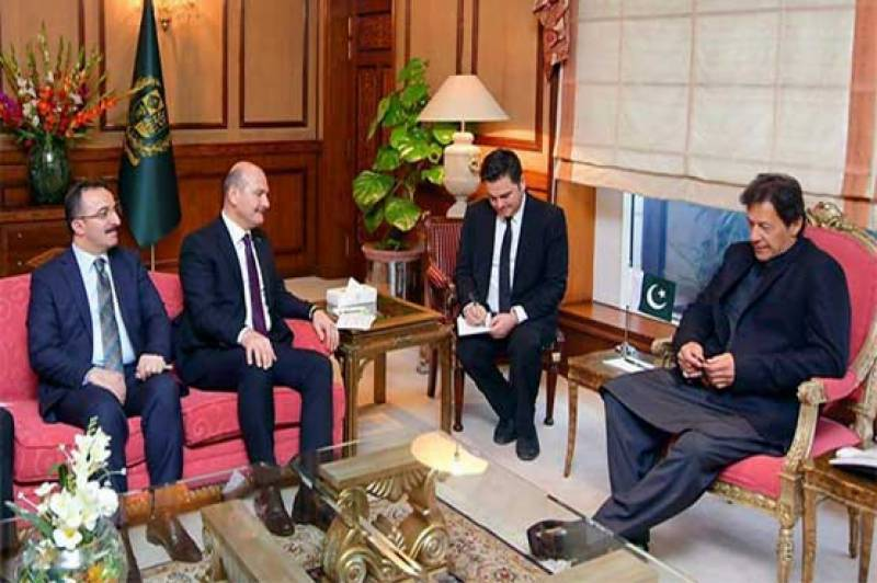 Turkish Interior Minister calls on PM Imran in Islamabad