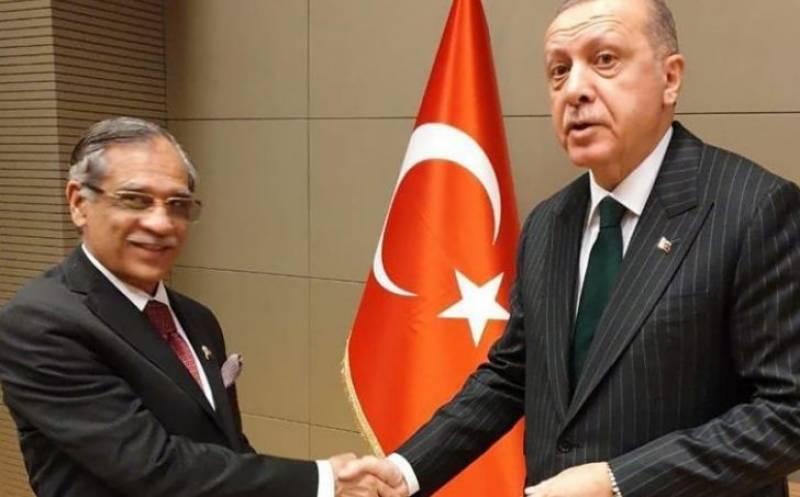 CJP Nisar calls on Turkish President Erdogan in Konya