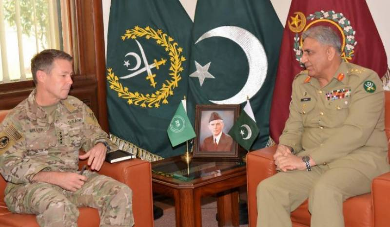 COAS Bajwa, US commander discuss Afghan peace process