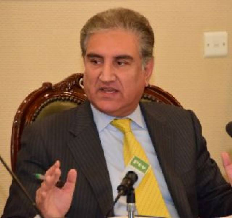 FM Qureshi discusses regional, global situation in one-day trip to Doha