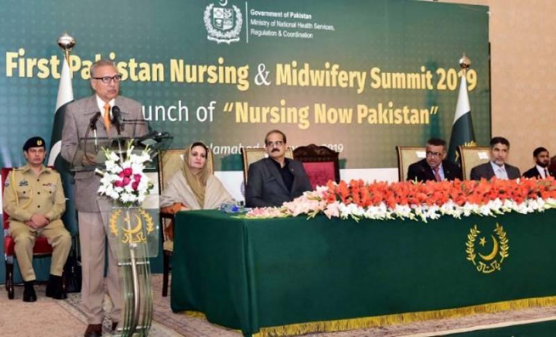 President Arif Alvi declares 2019 as year of nursing