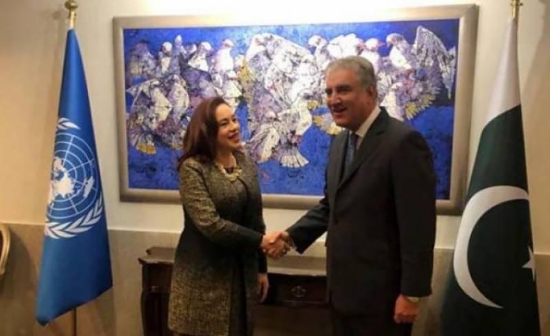 FM Qureshi, UNGA president discuss Kashmir, Afghan peace