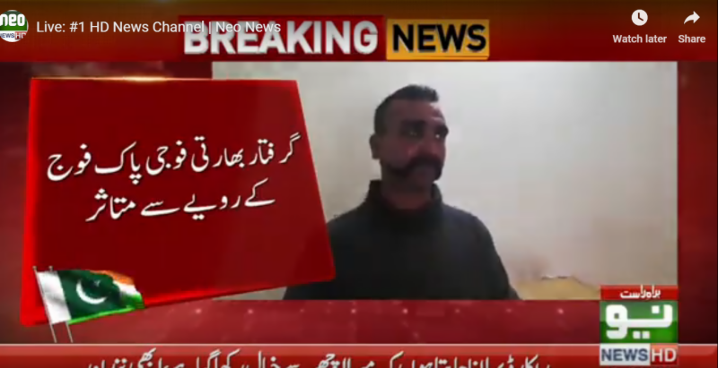 Captured Indian pilot praises Pak Army, says treated him very well