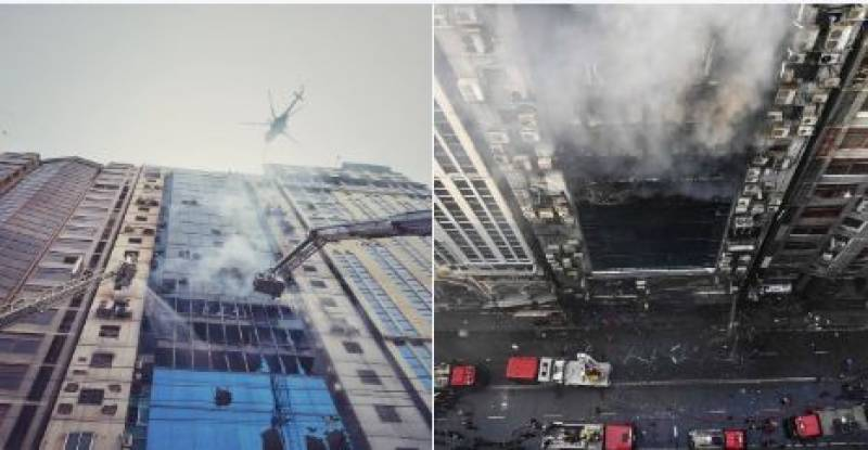 Death toll in Bangladesh skyscraper inferno rises to 25: (Video)