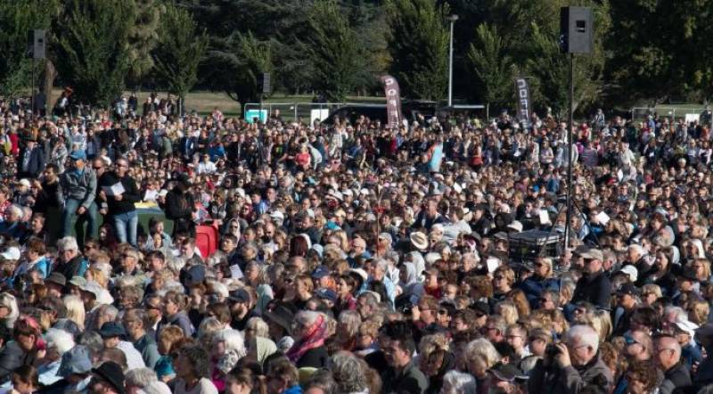 New Zealand holds national memorial service for mosque attack victims