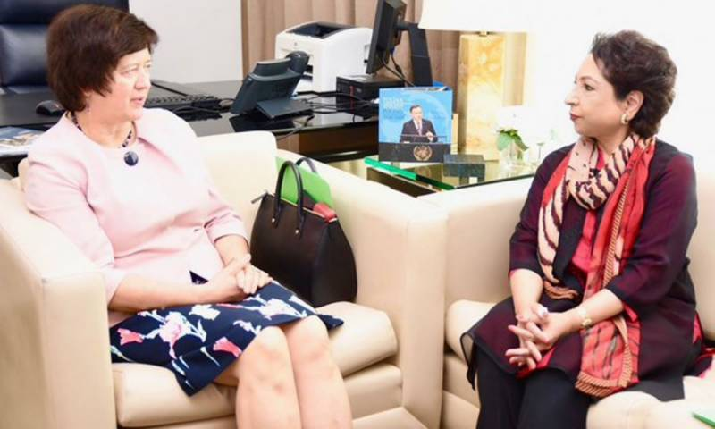 Maleeha Lodhi briefs UNSC president over India's illegal actions in occupied Kashmir