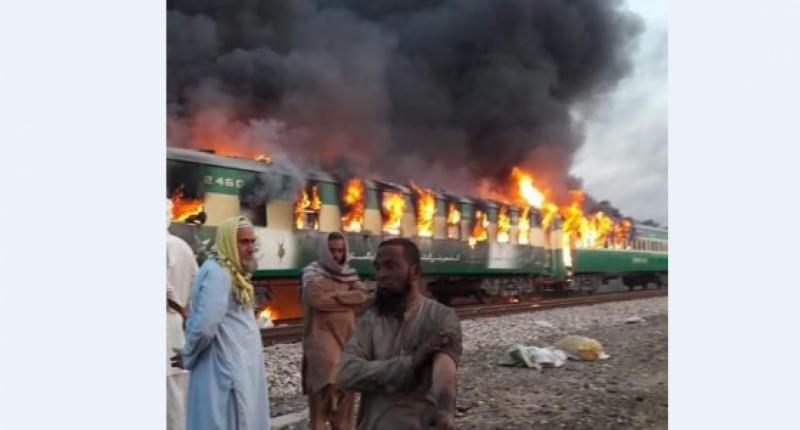 Sheikh Rasheed announces compensation money for Tezgam train fire victims