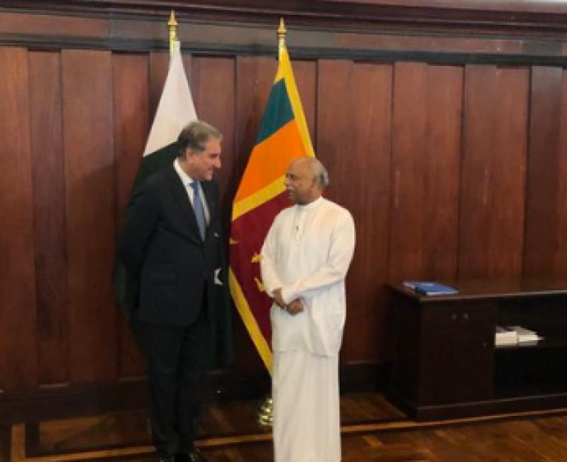 FM Qureshi briefs Sri Lankan counterpart on 'human rights violation' in IoK