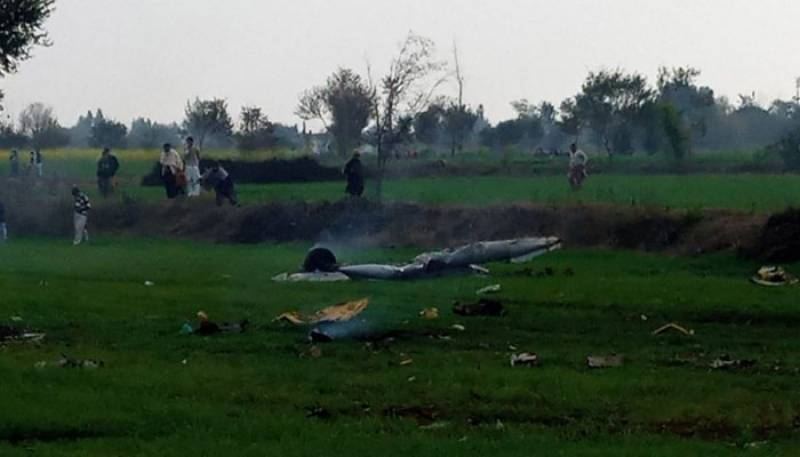 Two pilots martyred after PAF plane on routine training mission crashes
