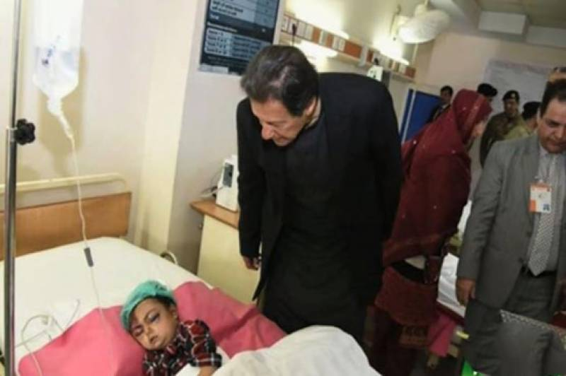 PM Imran visits AJK, inquires about health of avalanche victims