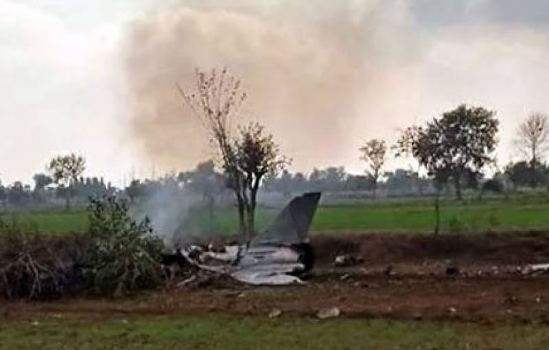 PAF trainer aircraft crashes near Takht Bhai in Mardan