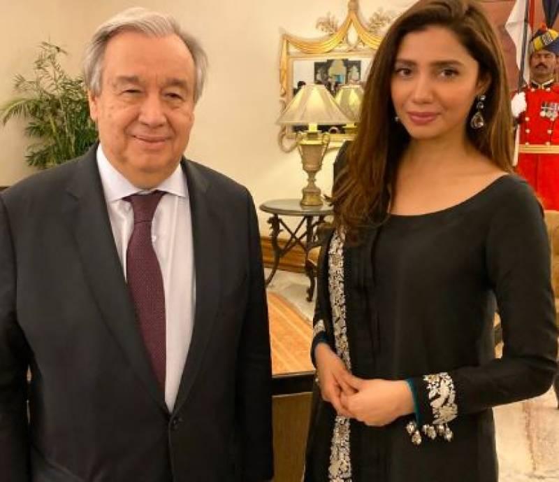 Mahira Khan meets UN chief Antonio Guterres