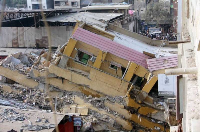 At least three dead, several injured after residential building collapses in Karachi