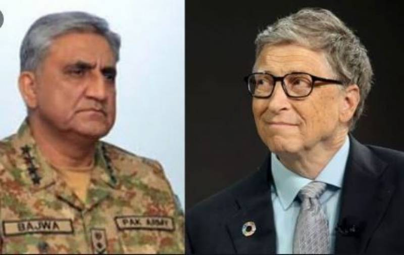 Bill Gates phones COAS Bajwa, hails Pak Army's role in anti-polio drive