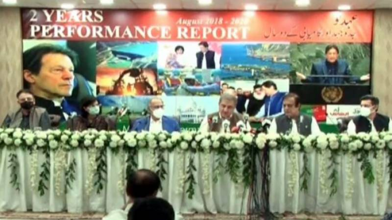 Ministers highlight achievements of PTI govt in two-year performance report