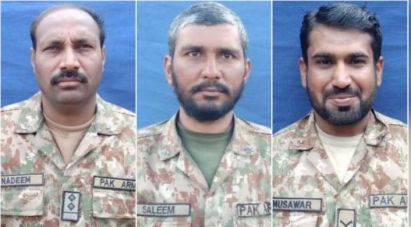Three soldiers martyred in South Waziristan search operation: ISPR