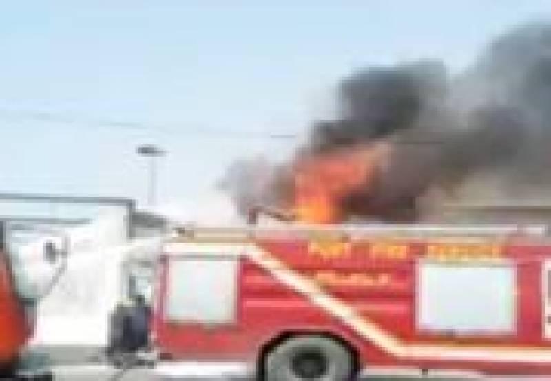 Fire at Keamari oil terminal interrupts petrol supply across Pakistan