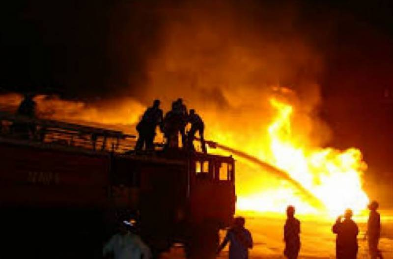 At least 4 killed as building catches fire in Karachi's Hijrat Colony