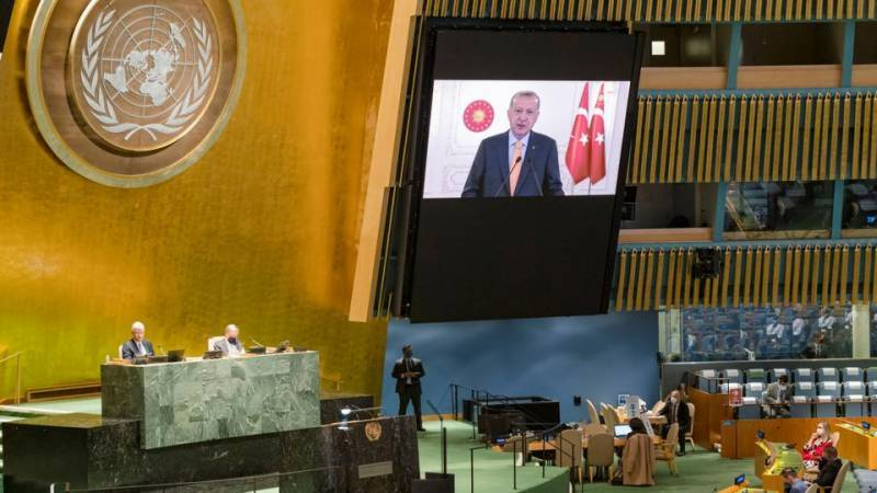 Erdogan becomes voice of Kashmiri people in UNGA's virtual session