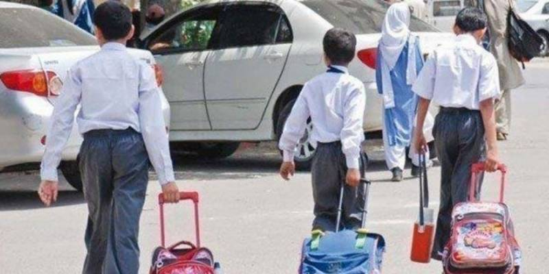 Schools from nursery to middle classes reopen in Sindh