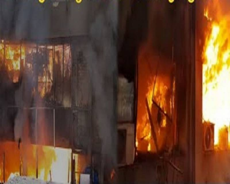 Massive fire at Lahore's Hafeez Centre not put out completely even after 12 hours