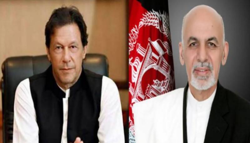 PM Imran, Afghan President Ashraf Ghani discuss peace process, bilateral relations