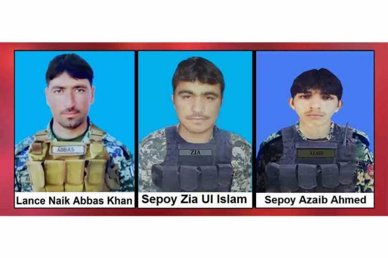 Three soldiers martyred, 2 terrorists killed during North Waziristan IBO operations