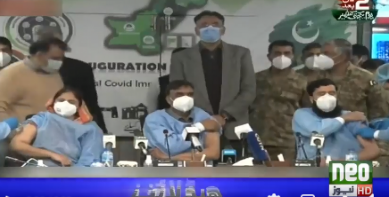 National COVID-19 vaccination campaign begins across Pakistan