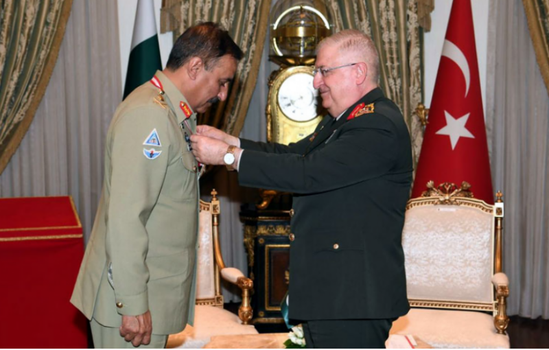 CJCSC Gen Nadeem Raza receives Turkey's highest military award