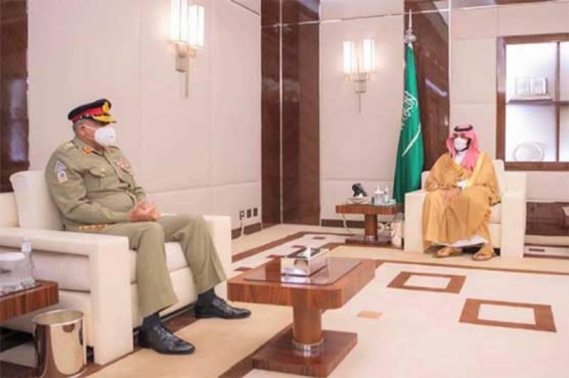 COAS Gen Bajwa calls on Saudi Crown Prince Mohammed Bin Salman