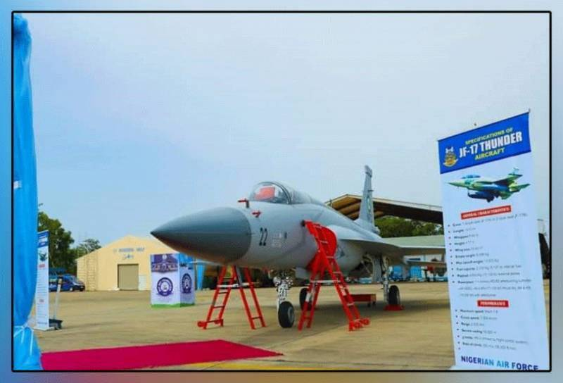 PAF hands over three JF-17 Thunder aircraft to Nigerian Air force