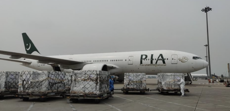 PIA special plane carrying 1 million doses of Sinopharm vaccine reaches Islamabad