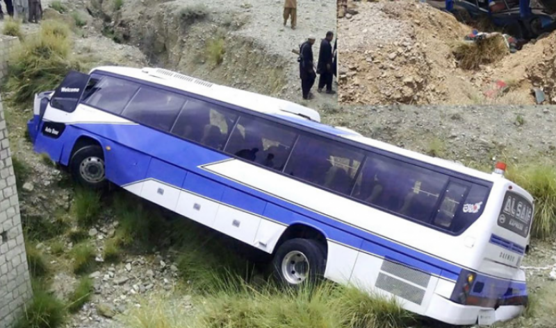 At least 18 killed as passenger bus overturns in Khuzdar