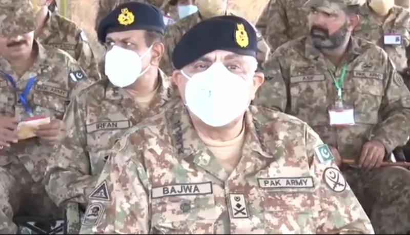 COAS Gen Bajwa visits Sialkot, Kotli to witness troops' exercises