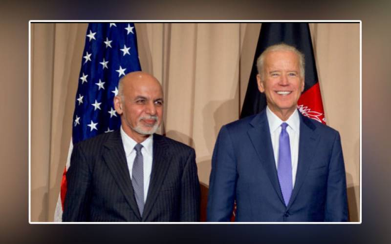 afghan president ghani, counterpart, biden, white house, neo tv