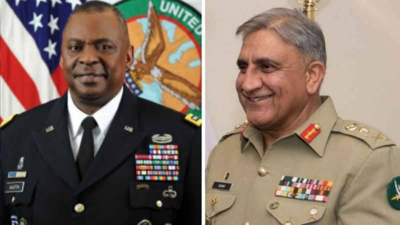 COAS Bajwa, US defence secretary discuss mutual security goals in region