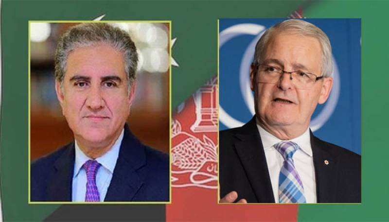 FM Qureshi discusses Afghanistan situation with Canadian counterpart