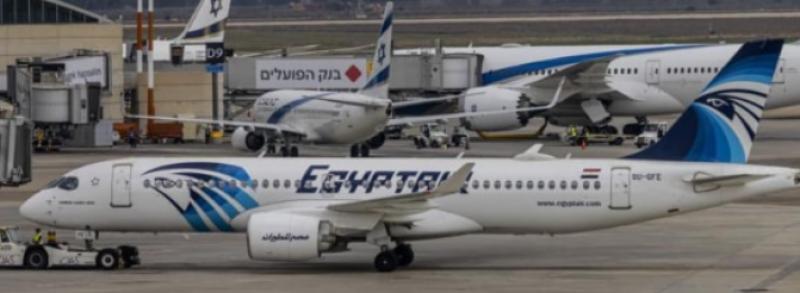 First Egyptian plane under national logo lands in Israel