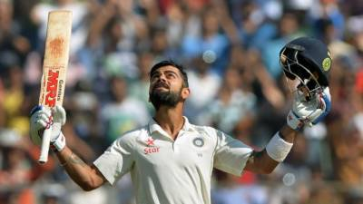 Virat Kohli strikes double century in test against England