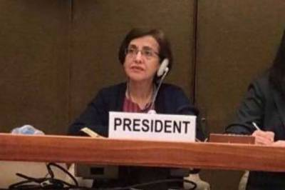 Tehmina Janjua chairs the 5th Review Conference of the Convention on CCW