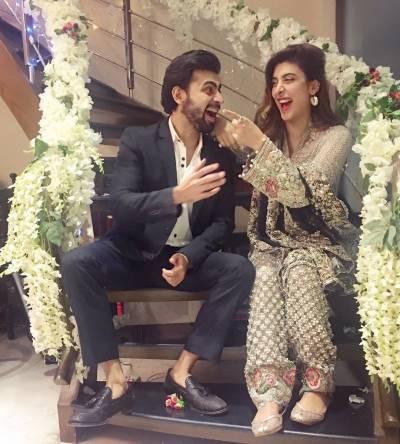 Urwa and Farhan Saeed's perfect dholki ceremony (Pics)