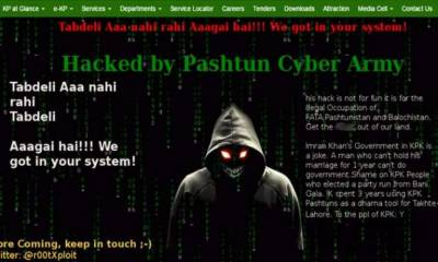 Official website of KP hacked