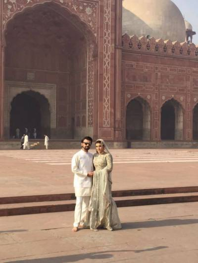 Farhan Saeed & Urwa Hocane's Nikah ceremony at Badshahi Mosque (Pics)